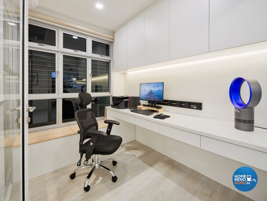 Modern Design - Study Room - HDB 5 Room - Design by Absolook Interior Design Pte Ltd