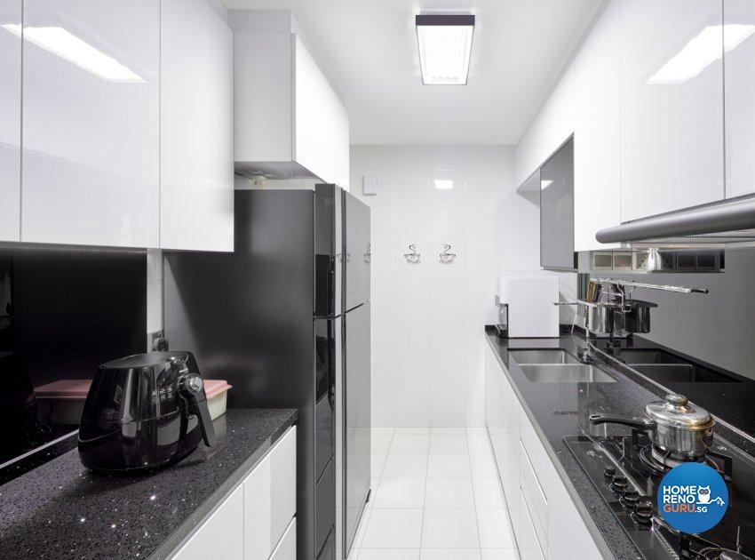 Modern Design - Kitchen - HDB 4 Room - Design by Absolook Interior Design Pte Ltd