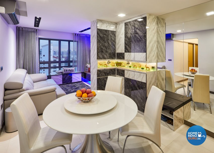 Modern Design - Dining Room - HDB 4 Room - Design by Absolook Interior Design Pte Ltd