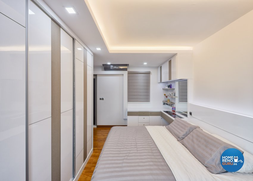 Modern Design - Bedroom - HDB 4 Room - Design by Absolook Interior Design Pte Ltd