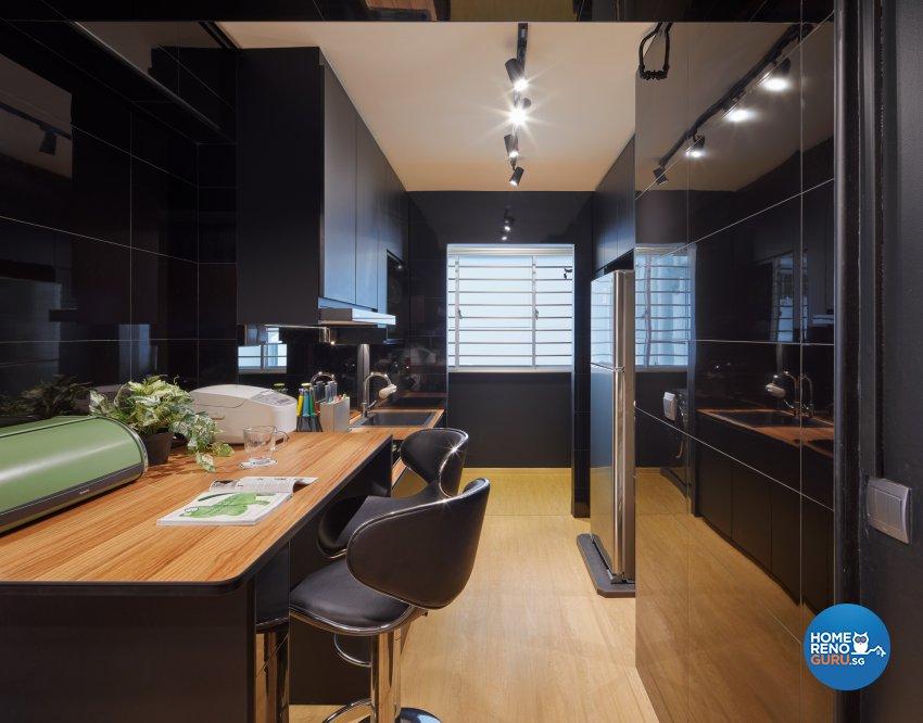 Modern, Scandinavian Design - Kitchen - HDB 3 Room - Design by Absolook Interior Design Pte Ltd
