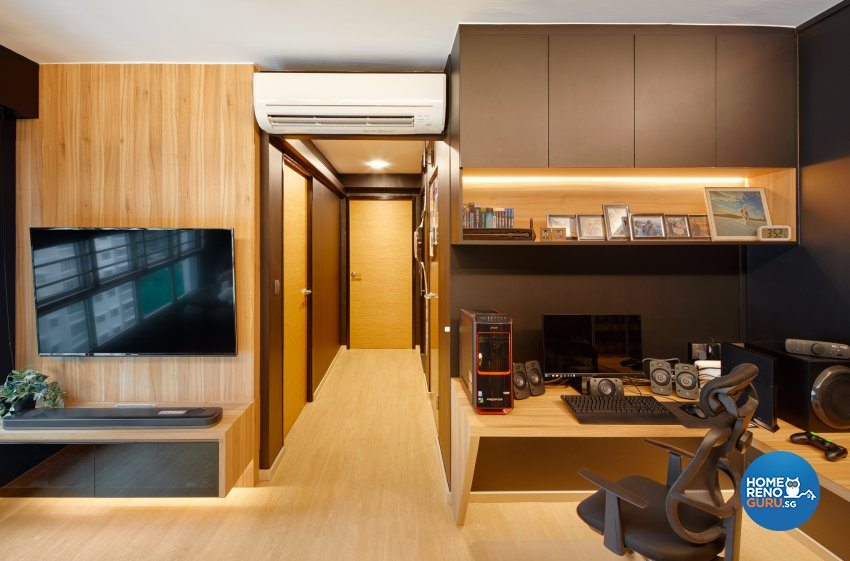 Modern, Scandinavian Design - Living Room - HDB 3 Room - Design by Absolook Interior Design Pte Ltd