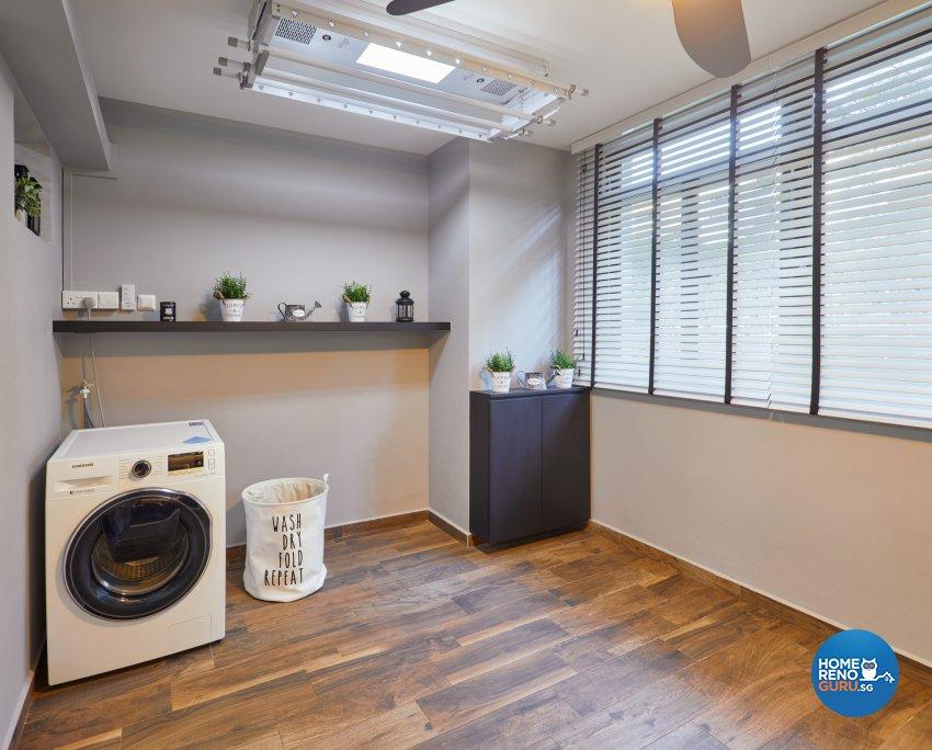 Modern, Scandinavian Design - Balcony - HDB Executive Apartment - Design by Absolook Interior Design Pte Ltd
