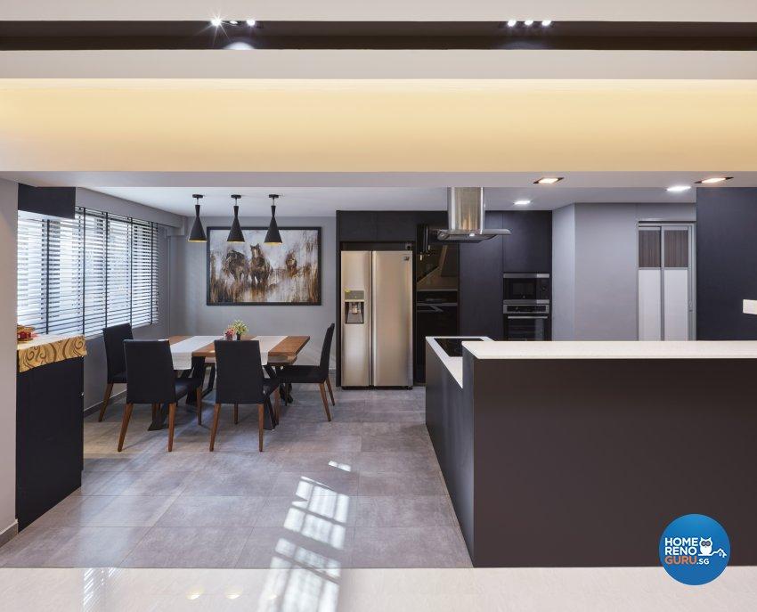 Modern, Scandinavian Design - Kitchen - HDB Executive Apartment - Design by Absolook Interior Design Pte Ltd