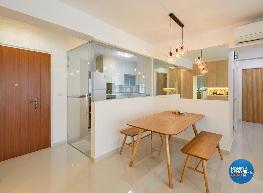 Scandinavian Design - Dining Room - HDB 4 Room - Design by Absolook Interior Design Pte Ltd