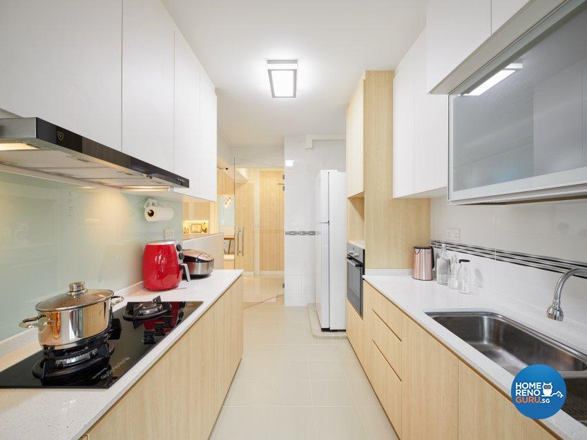 Scandinavian Design - Kitchen - HDB 4 Room - Design by Absolook Interior Design Pte Ltd