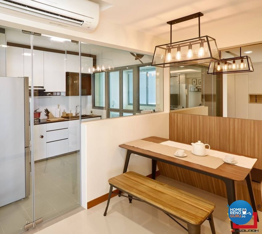 Contemporary Design - Dining Room - HDB 4 Room - Design by Absolook Interior Design Pte Ltd