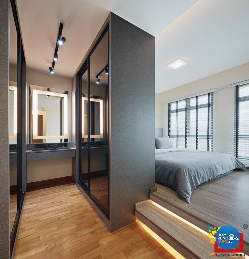 Contemporary Design - Bedroom - HDB 4 Room - Design by Absolook Interior Design Pte Ltd