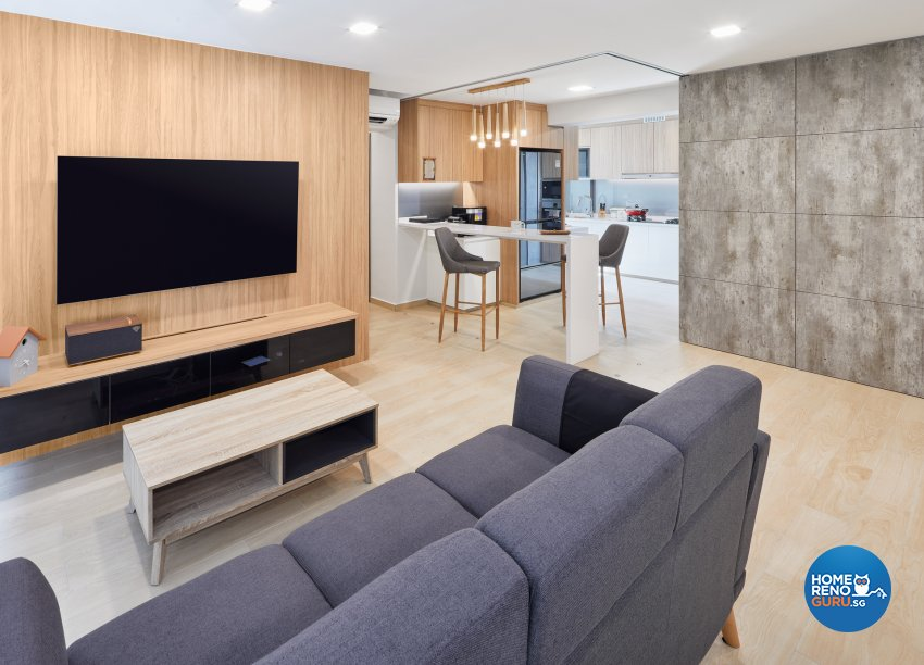 Contemporary, Modern, Scandinavian Design - Living Room - HDB 5 Room - Design by Absolook Interior Design Pte Ltd