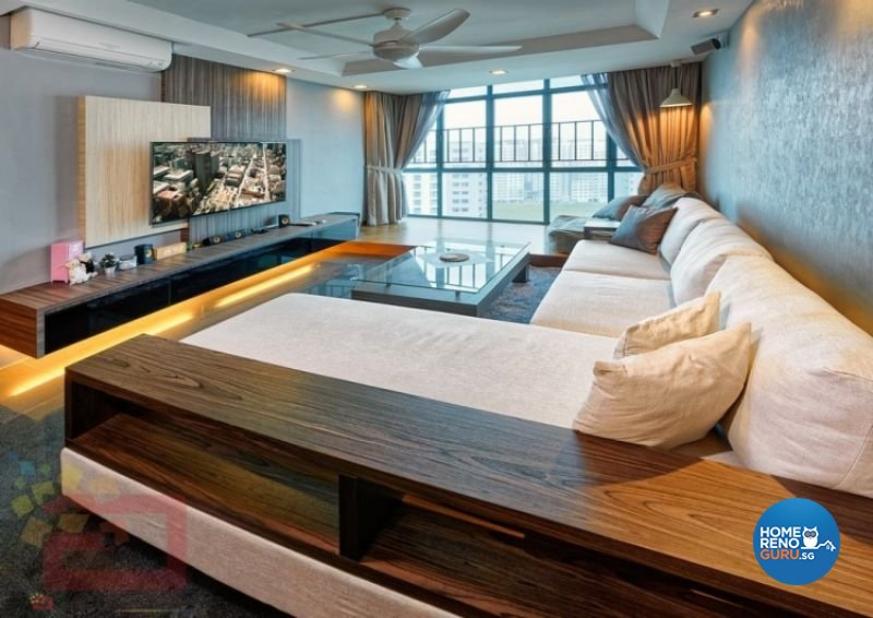 Contemporary Design - Living Room - HDB 4 Room - Design by Absolook Interior Design Pte Ltd
