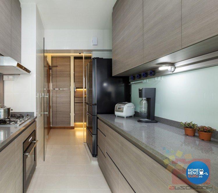 Contemporary, Minimalist, Modern Design - Kitchen - HDB 3 Room - Design by Absolook Interior Design Pte Ltd