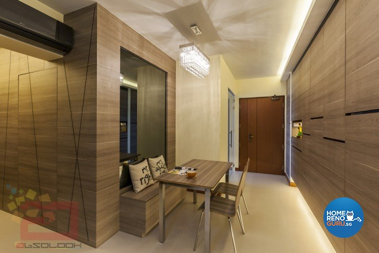 Contemporary, Minimalist, Modern Design - Dining Room - HDB 3 Room - Design by Absolook Interior Design Pte Ltd