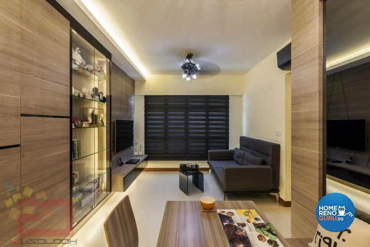 Contemporary, Minimalist, Modern Design - Living Room - HDB 3 Room - Design by Absolook Interior Design Pte Ltd