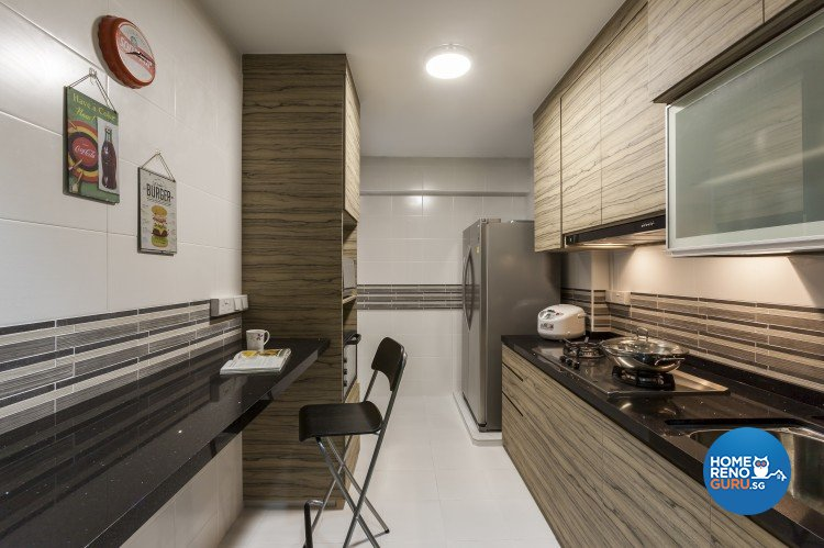 Contemporary, Industrial, Scandinavian Design - Kitchen - HDB 4 Room - Design by Absolook Interior Design Pte Ltd