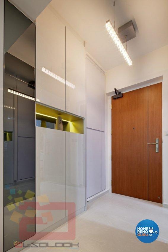 Modern Design - Living Room - HDB 4 Room - Design by Absolook Interior Design Pte Ltd