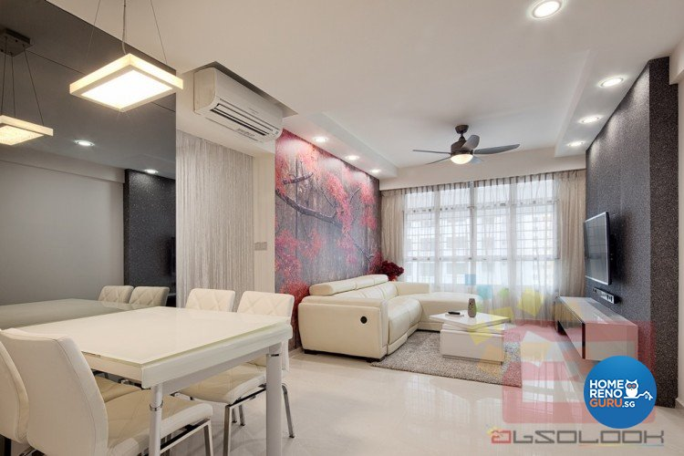 Modern Design - Living Room - HDB 4 Room - Design by Absolook Interior Design Pte Ltd