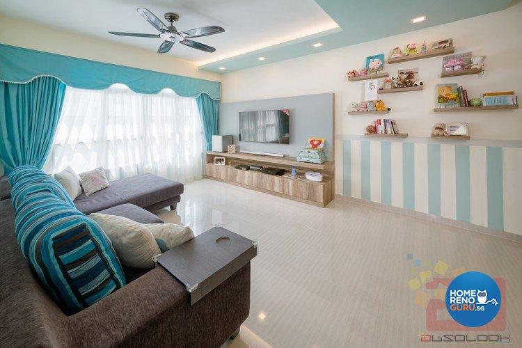 Contemporary, Modern, Scandinavian Design - Living Room - HDB 4 Room - Design by Absolook Interior Design Pte Ltd