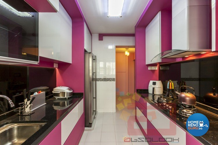 Contemporary, Eclectic, Modern, Retro Design - Kitchen - HDB 4 Room - Design by Absolook Interior Design Pte Ltd
