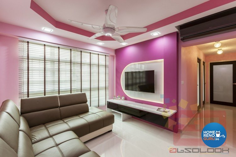 Contemporary, Eclectic, Modern, Retro Design - Living Room - HDB 4 Room - Design by Absolook Interior Design Pte Ltd