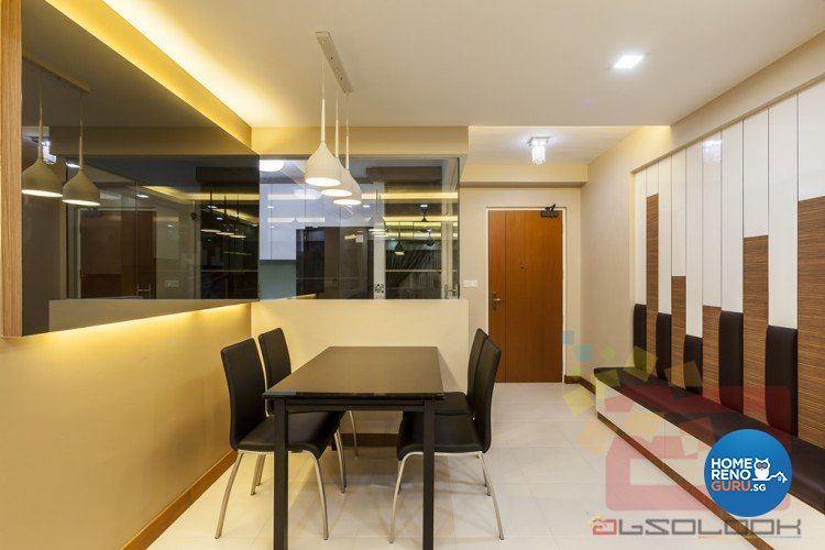 Contemporary, Modern Design - Dining Room - HDB 4 Room - Design by Absolook Interior Design Pte Ltd