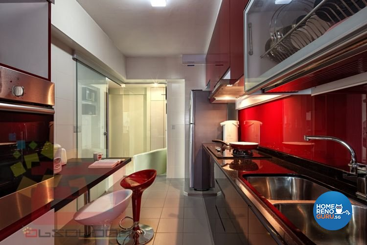 Contemporary, Modern Design - Kitchen - HDB 4 Room - Design by Absolook Interior Design Pte Ltd