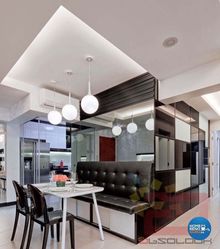 Contemporary, Minimalist, Modern Design - Dining Room - HDB 4 Room - Design by Absolook Interior Design Pte Ltd