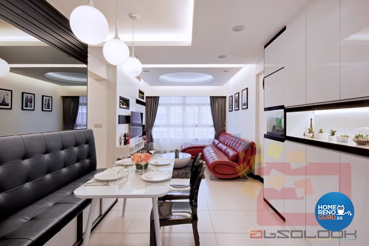 Contemporary, Minimalist, Modern Design - Living Room - HDB 4 Room - Design by Absolook Interior Design Pte Ltd