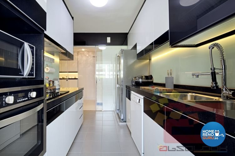 Contemporary, Minimalist, Modern Design - Kitchen - HDB 4 Room - Design by Absolook Interior Design Pte Ltd