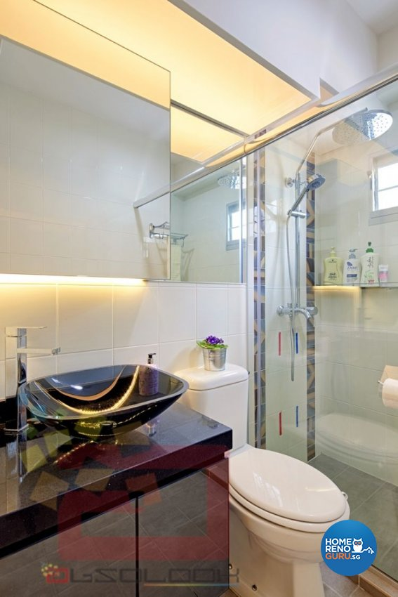 Contemporary, Minimalist, Modern Design - Bathroom - HDB 4 Room - Design by Absolook Interior Design Pte Ltd