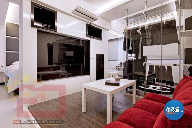 Contemporary, Minimalist, Modern Design - Entertainment Room - HDB 4 Room - Design by Absolook Interior Design Pte Ltd