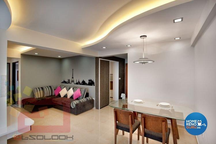 Contemporary, Minimalist, Modern Design - Living Room - HDB 4 Room - Design by Absolook Interior Design Pte Ltd