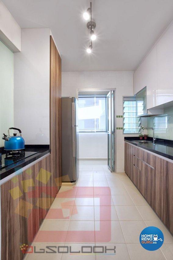 Contemporary, Minimalist, Modern Design - Kitchen - HDB 4 Room - Design by Absolook Interior Design Pte Ltd