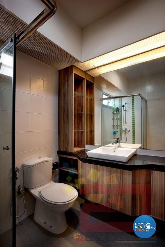 Contemporary, Minimalist, Modern Design - Bathroom - HDB 4 Room - Design by Absolook Interior Design Pte Ltd