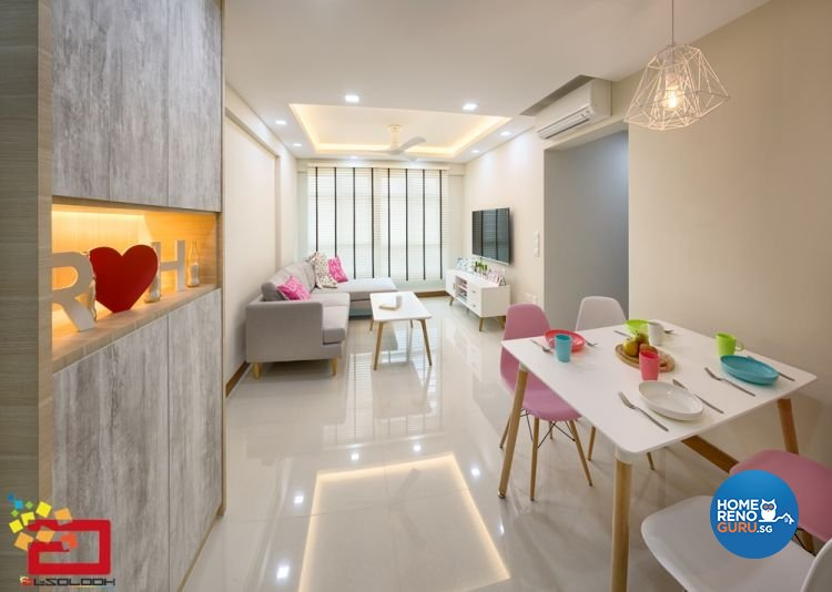 Contemporary, Minimalist Design - Living Room - HDB 4 Room - Design by Absolook Interior Design Pte Ltd