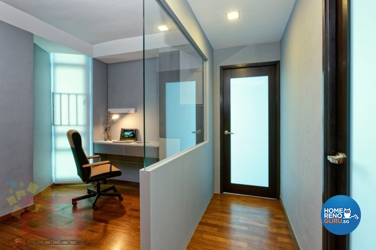 Contemporary, Minimalist, Modern Design - Study Room - HDB Executive Apartment - Design by Absolook Interior Design Pte Ltd