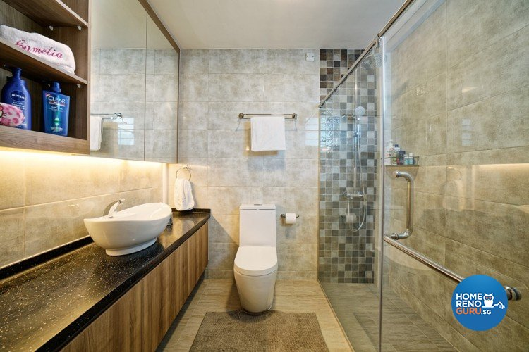 Contemporary, Minimalist, Modern Design - Bathroom - HDB Executive Apartment - Design by Absolook Interior Design Pte Ltd