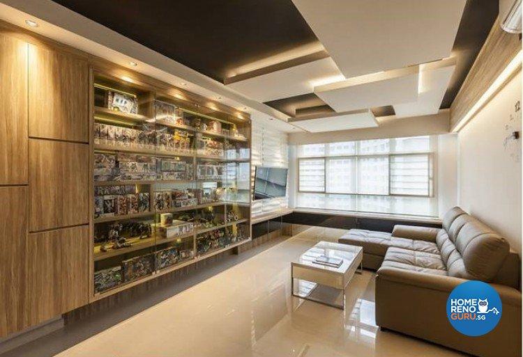 Contemporary, Modern Design - Living Room - HDB 4 Room - Design by Absolook Interior Design Pte Ltd