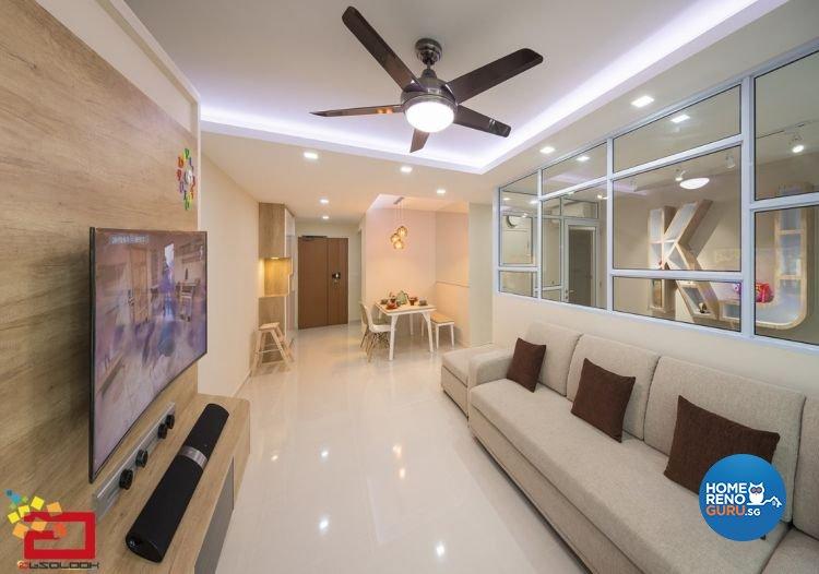 Contemporary, Minimalist, Modern, Scandinavian Design - Living Room - HDB 5 Room - Design by Absolook Interior Design Pte Ltd