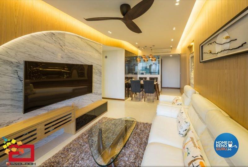 Contemporary, Modern Design - Living Room - Condominium - Design by Absolook Interior Design Pte Ltd