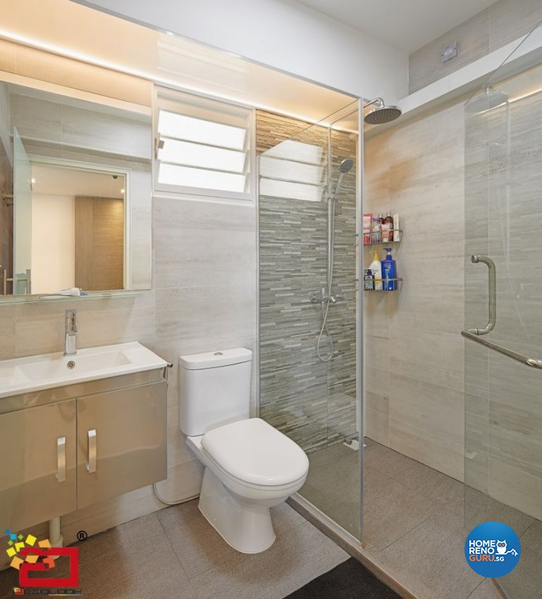 Modern Design - Bathroom - HDB 5 Room - Design by Absolook Interior Design Pte Ltd
