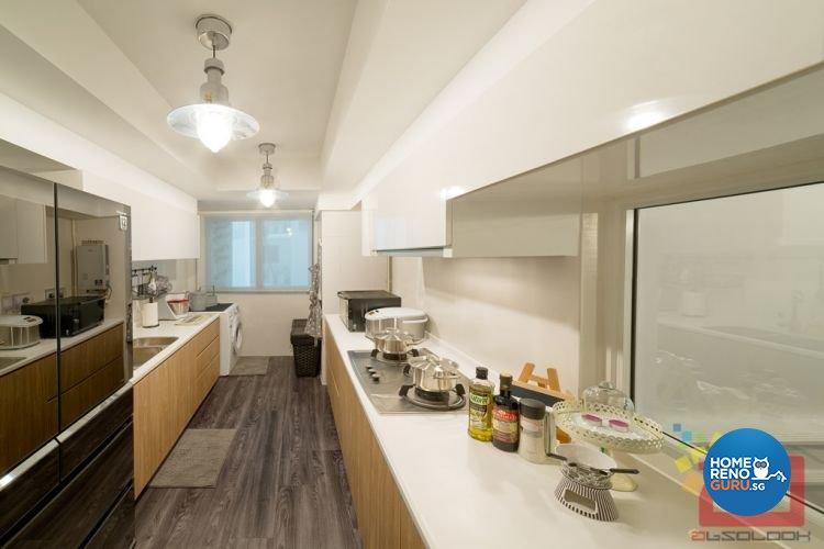 Contemporary, Country, Minimalist, Modern, Scandinavian, Victorian Design - Kitchen - HDB 4 Room - Design by Absolook Interior Design Pte Ltd