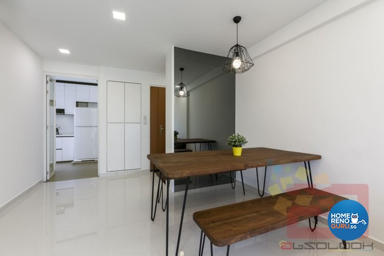 Contemporary, Minimalist Design - Dining Room - HDB 4 Room - Design by Absolook Interior Design Pte Ltd