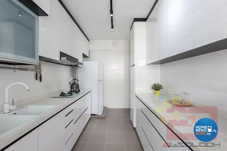 Contemporary, Minimalist Design - Kitchen - HDB 4 Room - Design by Absolook Interior Design Pte Ltd