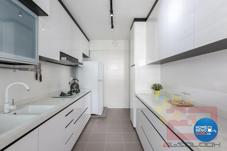 Contemporary, Minimalist Design - Kitchen - HDB 4 Room - Design by Absolook Interior Design Pte Ltd