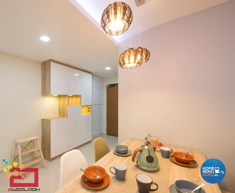 Contemporary, Minimalist, Scandinavian, Victorian Design - Dining Room - HDB 4 Room - Design by Absolook Interior Design Pte Ltd