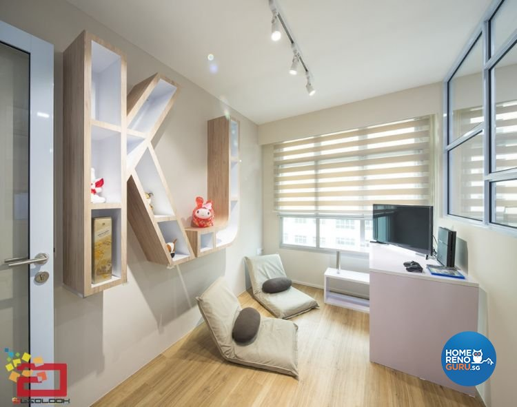 Contemporary, Minimalist, Scandinavian, Victorian Design - Entertainment Room - HDB 4 Room - Design by Absolook Interior Design Pte Ltd