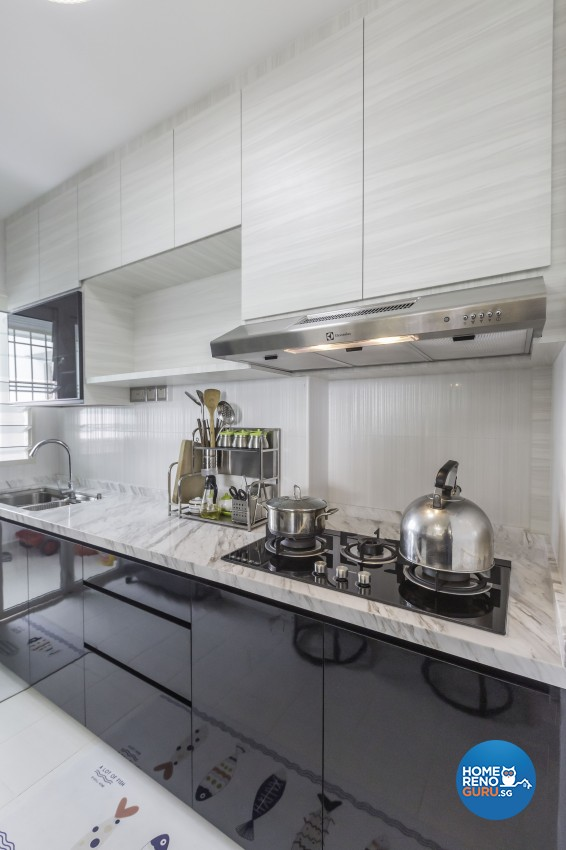 Classical, Modern Design - Kitchen - HDB 5 Room - Design by Absolook Interior Design Pte Ltd