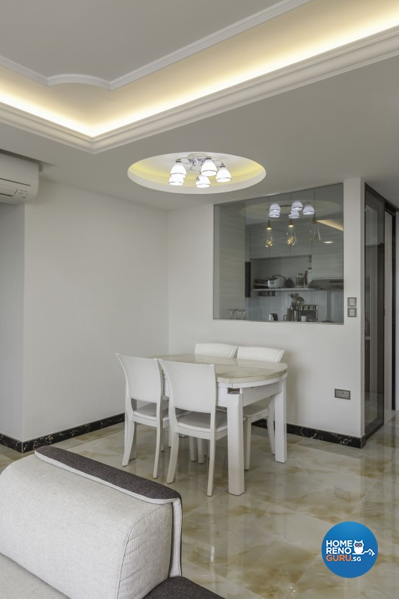 Classical, Modern Design - Dining Room - HDB 5 Room - Design by Absolook Interior Design Pte Ltd