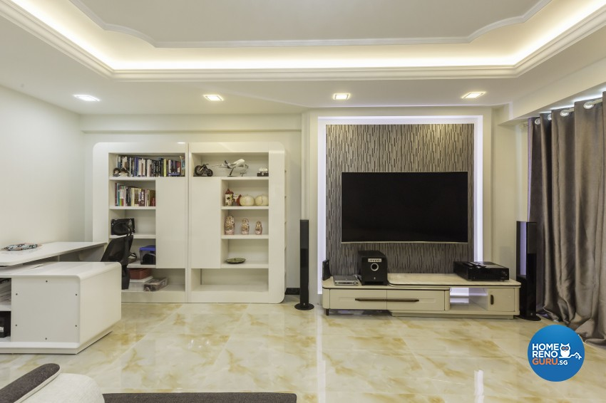 Classical, Modern Design - Living Room - HDB 5 Room - Design by Absolook Interior Design Pte Ltd