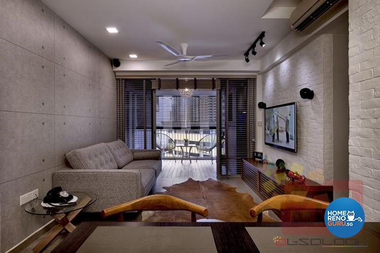 Contemporary, Minimalist, Modern Design - Living Room - HDB 5 Room - Design by Absolook Interior Design Pte Ltd